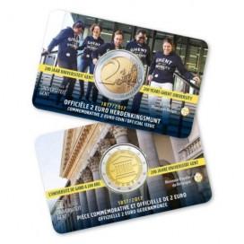 Pack 2x 2 Euro Coincard Belgique 2017 Université de Gand Francaise + Flamande