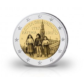 2 Euro Vatican 2017 100e Anniversaire des apparitions de Fatima