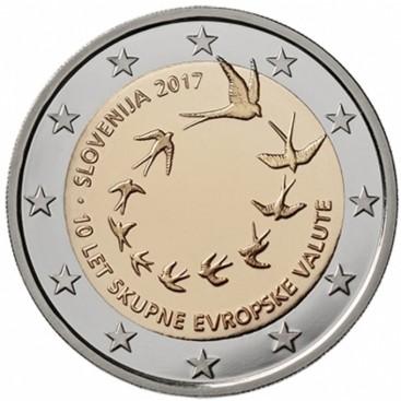 2 Euro Slovénie 2017 10E Anniversaire de L'Euro