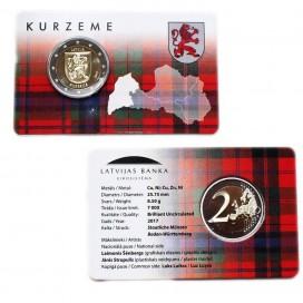 Coincard 2 Euro Lettonie 2017 Les Armoiries de Kurzeme