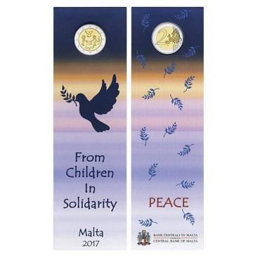 Coincard 2 Euro Malte 2017 La paix