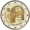 2 Euro Slovaquie 2018 25 ans de la République de Slovaquie