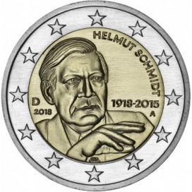 2 euro Allemagne 2018 100 e anniversaire de la naissance d'Helmut Schmidt