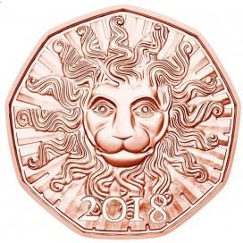 5 Euro Autriche 2018 La Force du Lion