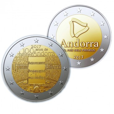 Pack 2 x 2 Euro andorre 2017