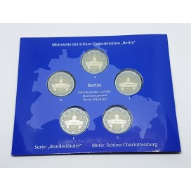 5 x 2 euro Allemagne 2018 Berlin BE