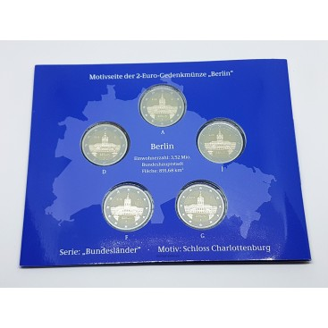 5 x 2 euro Allemagne 2018 BE