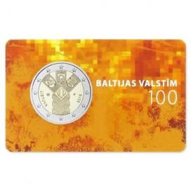 Coincard 2 Euro Lettonie 2018 - 100 ans des Etats Baltes