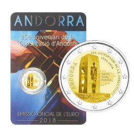 2 Euro Andorre 2018 25e anniversaire de la Constitution de la Principauté d'Andorre