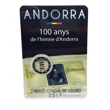 2 Euro Andorre 2017 100 ans de l'Hymne d'Andorre