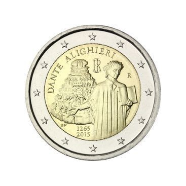 2 Euro Italie 2015 - Dante Alighieri