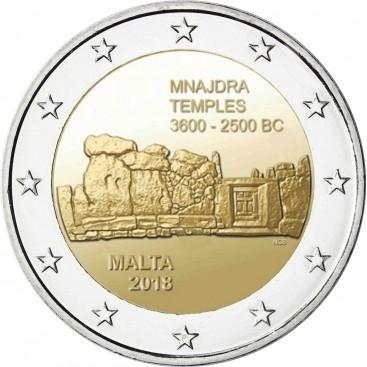2 Euro Malte 2018 Mnajdra