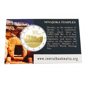 Coincard 2 Euro Malte 2018 Mnajdra