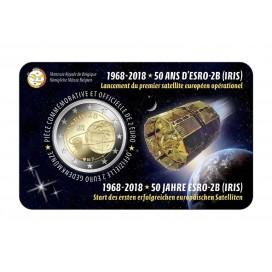 Coincard Francaise 2 Euro Belgique 2018 Satellite Esro 2B Iris