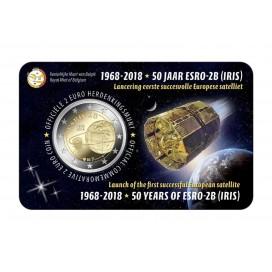 Coincard Flamande 2 Euro Belgique 2018 Satellite Esro 2B Iris