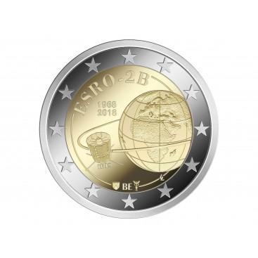 2 Euro Belgique 2018 50 ans du Satellite Esro 2B