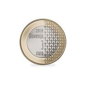 3 euro Slovénie 2018