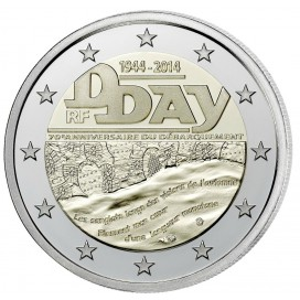 2 euro commémorative FRANCE 2014 D-DAY