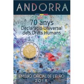 2 Euro Andorre 2018 - Déclaration des Droits de l'Homme