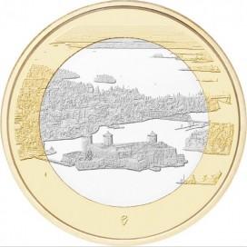 5 Euro Finlande 2018 - Olavinlinna et lac Pihlajavesi