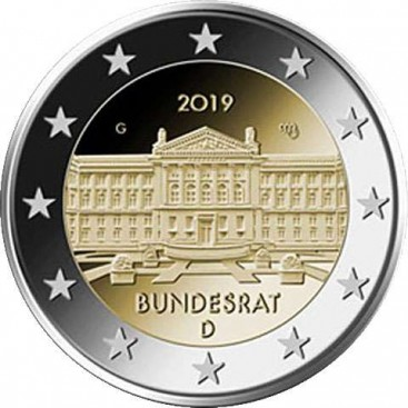 5 x 2 euro Allemagne 2019 70 ans du Bundesrat