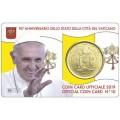 Coincard 50 cents Vatican 2018