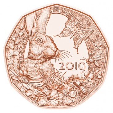 5 Euro Autriche 2019 Pâques et le réveil du Printemps