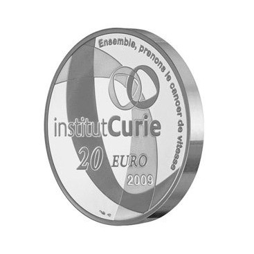 20 Euros Institut curie argent 2009
