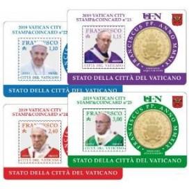 Lot 4 x Coincard Vatican 2019