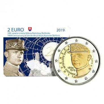 Coincard 2 Euro Slovaquie 2019 BU - Milan Rastislav Štefánik
