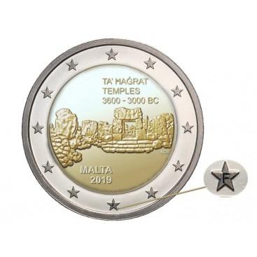 2 Euro Malte 2019 - Temple de Ta'hagrat variante