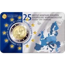 Coincard Francaise 2 Euro Belgique 2019 - 25 ans de l'Institut monétaire européen