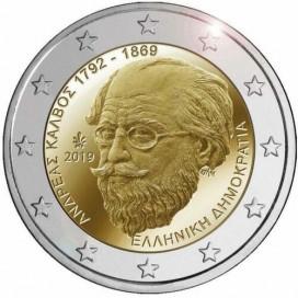 2 Euro Grèce 2019 - 150e anniversaire de la mort d'Andreas Kalvos
