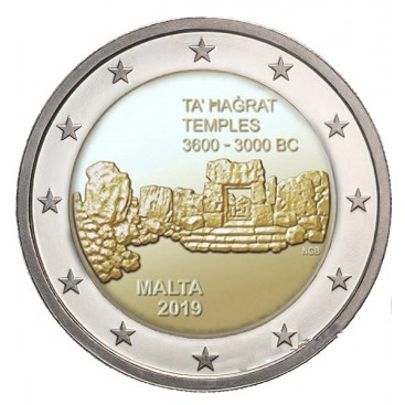 2 Euro Malte 2019 - Temple de Ta'hagrat