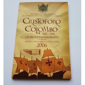 2 EURO SAINT MARIN 2006 Christophe Colomb