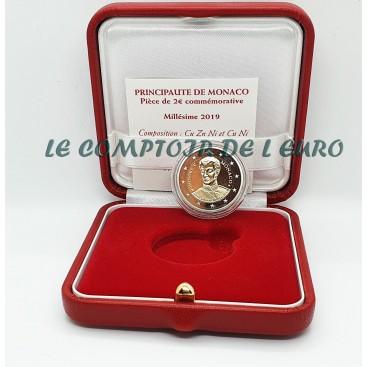 2 Euro Monaco 2019 200e anniversaire de l'accession au trône du prince Honoré V