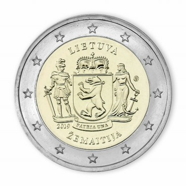 2 Euro Lituanie 2019 - région historique de Zemaitija