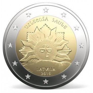 2 Euro Lettonie 2019 - Soleil levant