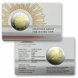 Coincard 2 Euro Lettonie 2019 - Soleil levant