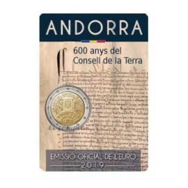 2 Euro Andorre 2019 - 600 ans du Conseil de la Terre