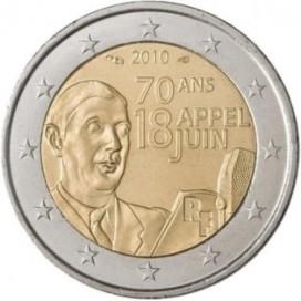 2 Euro FRANCE 2010 General De Gaulle