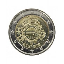 """2 Euro """"10 ans de l'euro """" Belgique 2012"""