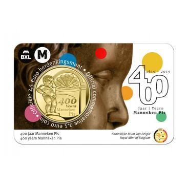Coincard Flamande 2,50 Euro Belgique 2019 - Manneken Pis