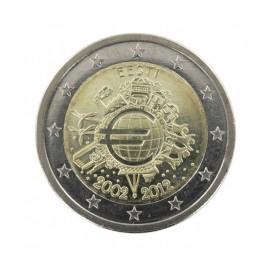 "2 Euro ""10 ans de l'euro "" Estonie 2012"