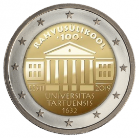2 Euro Estonie 2019 - 100 ans de l' Université de Tartu