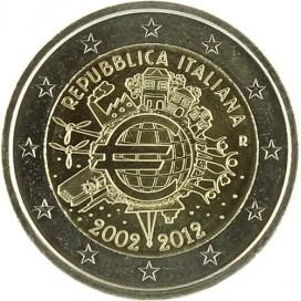 "2 Euro ""10 ans de l'euro "" Italie 2012"