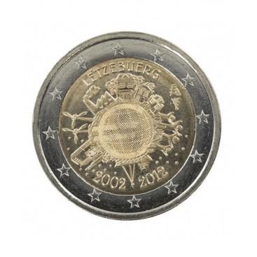 "2 Euro ""10 ans de l'euro "" Luxembourg 2012"