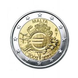 "2 Euro ""10 ans de l'euro "" Malte 2012"
