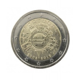 "2 Euro ""10 ans de l'euro "" Portugal 2012"