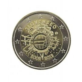 "2 Euro ""10 ans de l'euro "" Slovaquie 2012"